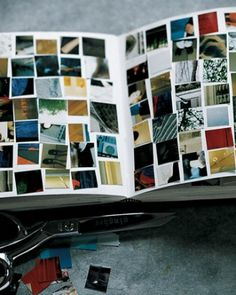 """Scrap"" scrapbook: turn a few pages into a mosaic made of scraps from travel pictures."