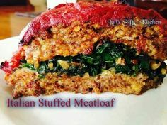 Italian Stuffed Meatloaf   1lb. Spicy Italian Sausage casing removed 1lb. ground beef or turkey ½ yellow/white medium onion or whole small chopped 1 egg 2 ½ tablespoons oil or butter for sautéing 1 big garlic clove minced 2 teaspoons dried basil 2 teaspoons dried oregano 4 cups fresh spinach 1 6oz can tomato paste ½ - 1 cup jarred pasta sauce ½ cup bread crumbs (could add 3 tablespoons parmesan) Salt and pepper to taste  1)preheat oven to 375 2)Heat oil in large pan on medium high. Add…
