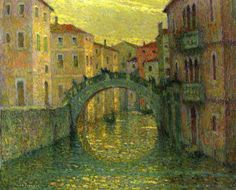 size: Giclee Print: The Morning Sun, Venice; Le Matin, Soleil, Venise, 1917 by Henri Eugene Augustin Le Sidaner : Artists Morning Sun, Mauritius, Pintura Exterior, Building Art, Post Impressionism, Paintings I Love, Art Forms, Photo Art, Poster