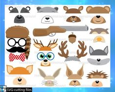 This item is unavailable Owl Kids, Wolf Photos, Kids Canvas, Art Clipart, Vector Photo, Photo Booth Props, Animals Images, Digital Stamps, Woodland Animals