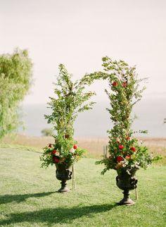 Greenery wedding arch: http://www.stylemepretty.com/2017/04/14/romantic-french-inspired-garden-wedding/# Photography: Koman - http://komanphotography.com/