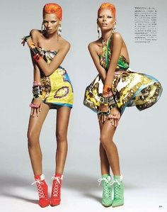 Vogue Japan: Keeping The Faith.  I am utterly in love with this over-the-top editorial titled 'Keeping The Faith' featuring Lindsay Ellingson, Simon Nessman & Vika Falileeva for Vogue Japan's upcoming issue. I can't get enough of Versace's signature, show-stopping aesthetic (styled by Sissy Vian)...and the vibrant, multicolored hair! Simply brilliant!  xx, Jessi Jae Joplin