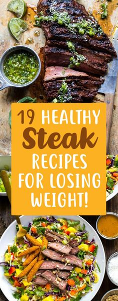 19 Weight Loss Steak Recipes That Are Packed Full Of Protein! 19 Weight Loss Steak Recipes That Are Packed Full Of Protein! – TrimmedandToned 19 Weight Loss Steak Recipes That Are Packed Full Of Protein! Healthy Steak Recipes, Healthy Meal Prep, Beef Recipes, Healthy Snacks, Healthy Eating, Protein Recipes, Healthy Weight, Healthy Steak Dinners, Recipes With Steak