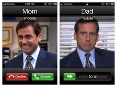 """everyone in my phone has a different micheal scott face"". Bahaha! I need to do this"