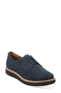 Free shipping and returns on Clarks® 'GlickDarby' Oxford (Women) at Nordstrom.com. Pinpoint perforations dial up the suave, contemporary attitude of a streamlined leather oxford grounded with a signature cushioned insole.