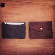 Navy Blue & Russet Brown.. Latest collaboration, exclusively for WOODEN STORE #Friends #Italy #Handmade #Leather #Slim #Card #Holder