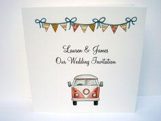 Festival Wedding Invitation £1.50 www.beadazzledesigns.co.uk