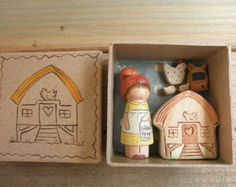 Items similar to Wood Toy-Home Décor-Pretend Play- Garden Gnome/Waldorf Inspired on Etsy Wooden Pegs, Wooden Dolls, Little Box, Beeswax Polish, Chicken Chick, Clothespin Dolls, Creative Play, Wood Toys, Diy Toys