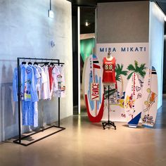 "BOONTHESHOP, Cheongdam, Gangnam, Seoul, South-Korea, ""Find us where the music meets the ocean"", for Mira Mikati, pinned by Ton van der Veer Retail Store Design, Retail Shop, Visual Merchandising Fashion, Fashion Retail Interior, Mira Mikati, Dover Street Market, Shop Window Displays, Sports Shops, Display Design"