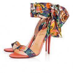 7c6d98b6eba Sandale Du Désert 100 Version Charlotte Satin Wallpaper - Women Shoes - Christian  Louboutin  ChristianLouboutin