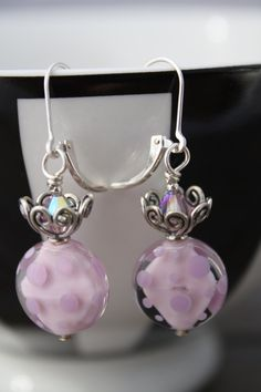 Pirouette Earrings handmade lampwork earrings by sweettoothstudio, $55.00