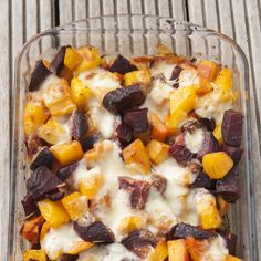 Butternut Squash and Beetroot Bake