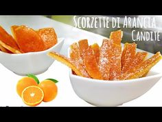 SCORZETTE DI ARANCIA CANDITE 🍊 - YouTube Sweets Recipes, Cooking Recipes, Orange Confit, Candied Orange Peel, Dehydrated Food, Party Desserts, Cupcakes, Deserts, Snacks
