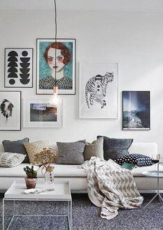 Cozy Scandinavian Living Room Design Ideas - Page 31 of 51 Decoration Inspiration, Interior Inspiration, Decor Ideas, Style Inspiration, Interior Ideas, Style Ideas, My Living Room, Living Room Decor, Living Room Artwork
