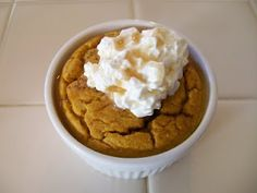 theworldaccordingtoeggface: Shelly's Pumpkin Protein Souffle - if you love bread pudding you have to try this.