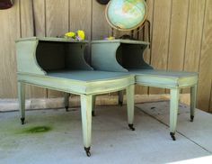 Furniture Update, Diy Furniture Projects, Upcycled Furniture, Furniture Makeover, Diy Projects, Distressed Furniture, Painted Furniture, Refinished Furniture, Redo End Tables