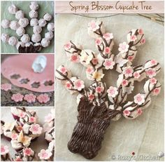 Blossom Cupcake Tree - maybe worked into a wedding cake?