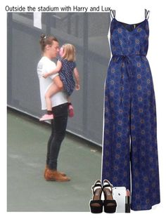 """Outside the stadium with Harry and Lux"" by lovetini6412 ❤ liked on Polyvore featuring mode, Topshop, Steve Madden en NARS Cosmetics"