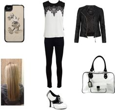 """""""Black and White"""" by meninapuca ❤ liked on Polyvore"""