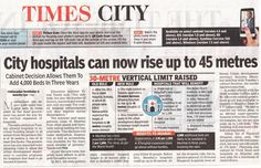 City Hospitals Can now Rise up to 45 Metres