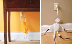 Organize Cable Clutter, Hide Cables in Walls or Furniture and Decorate with Electric Cables