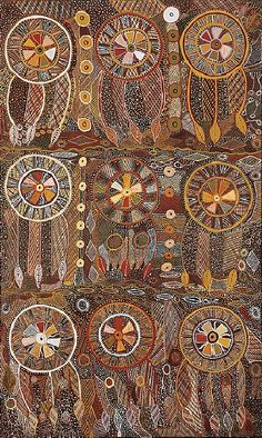 pin: Marie Evelyn Puautjimi / Parmajimi (Armband) & Kurlama, Oil on canvas 200 x 120 cm Aboriginal Painting, Aboriginal Artists, Dot Painting, Encaustic Painting, Indigenous Australian Art, Indigenous Art, Mandala, Aboriginal Culture, Maori Art
