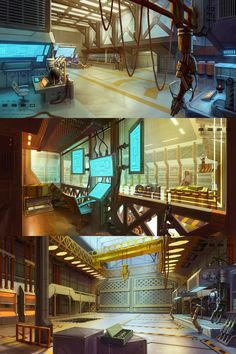Cyberpunk Atmosphere, Future, Futuristic, Sci-Fi, Lab, warehouse and factory. by ~Real-SonkeS on deviantART