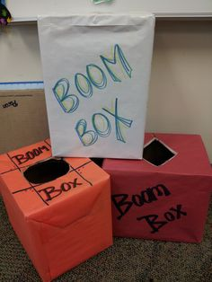 "Boom Boxes are great for #fluency! Put the flashcards you want students to practice into a box and add about five flashcards that say ""BOOM!"". The students take turns pulling cards and reading them. If they can read the card then they keep it. If they cannot, then they put it back. If they pull a ""BOOM!"" card then they must put all their cards back into the box. It's a neverending, but fun game!"