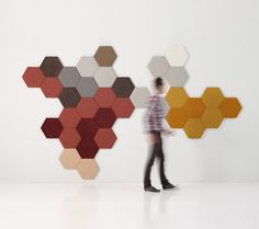 Tea Panels from Sancal...Fabric wrapped MDF hexagon panels