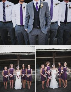 #wedding attire for the #groom and #groomsmen . . . just swap the purple