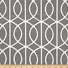 Dwell Studio Bella Porte Slub Charcoal - great pattern/color but fabric is best for window treatments, not chairs.