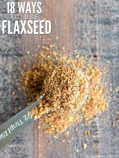 From eggs to pudding to granola to hummus to crackers – I'm amazed at this list of ways to use flaxseed! There are so many ways to use flaxseed beyond a smoothie! Best Nutrition Food, Health And Nutrition, Health Tips, Nutrition Articles, Health Care, Nutrition Guide, Nutrition Chart, Proper Nutrition, Fitness Nutrition