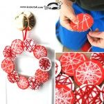 A wreath from beautiful ornaments