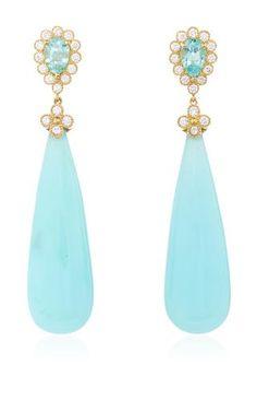 One of a kind jubilee opal drop earrings            by ERICA COURTNEY Preorder Now on Moda Operandi