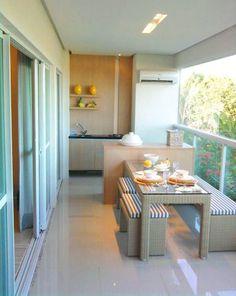 8 Modelos de Apartamentos com Varanda Gourmet | Decoração e Projetos