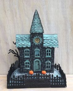 With Glue and Glitter : Stone Stenciled Clock House