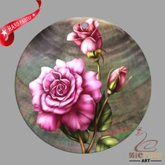 HAND PAINTED FLOWER SHELL FASHION NECKLACE PENDANT ZP30 01382 #ZL #PENDANT