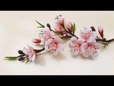 Crepe Paper Flowers, Paper Flower Tutorial, Paper Flowers Diy, Flower Crafts, Flower Stamen, Flower Art, Peach Blossoms, Flower Template, Cross Stitch Flowers