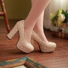 Cheap women shoes high heel, Buy Quality shoes high heels directly from China thick heel Suppliers: Pumps Matte new 33 40 41 42 Woman's shoes high heel Platform Thick heel EUR Size Chunky Heel Pumps, Studded Heels, High Heel Boots, High Heel Pumps, Pumps Heels, Zapatos Color Beige, Thick Heels, Lace Up Heels, Platform Pumps