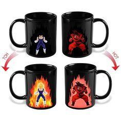 Dragon Ball Mug Z Vegeta SON Goku Changing Coffee Mug Heat-sensitive Reactive Ceramic Milk Mug for Kids Gift