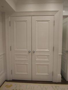 closet doors, love this look compared to bifold doors