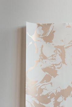 Wallpaper : Marble©: Gold on White