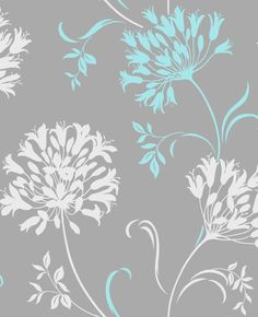 Grey turquoise wallpaper