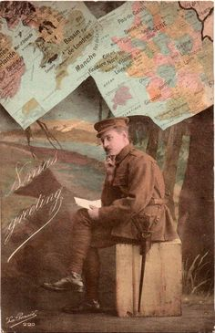 To put in you the festive mood, each day from now until Christmas, my blog will be publishing images from postcards sent during the First World War. Click on the picture to be taken to an external ... #christmas #adventcalendar