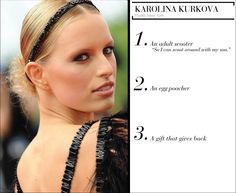 Karolina Kurkova's holiday wishlist - nice list