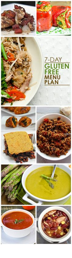 7-Day Gluten-Free Dinner Menu that is healthy and yummy!  #glutenfree #mealplanning #menuplanning