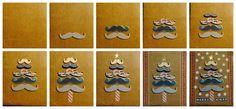 Árbol de bigotes de navidad / Moustache Chritsmas tree