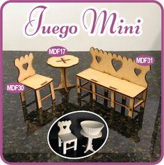 Mini mobiliario para mesa de dulces/Furniture mini for your sweets table. - Pedidos/Inquiries to crearcjs@gmail.com