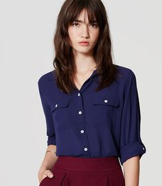 Image of Utility Blouse color Peaceful Blue