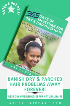 Banish dry and parched hair problems away with 365 Days of Moisture for Dry & Parched Hair. #haircare #curlyhair #beauty #hair #hairstyle #hairstyles #haircare #curlyhair #beauty #hair #naturalhaircare #naturalhaircareinformation #naturalhaircarebooks #curlyhaircare #curlyhaircarereading #curlyhaircarebooks #hairgrowthinformation #curlyhairgrowth #blackhairgrowth Curly Hair Growth, Black Hair Growth, Curly Hair Care, Hair Growth Oil, Curly Hair Styles, Natural Hair Styles, Dry Hair Remedies, Natural Haircare, Moisturize Hair